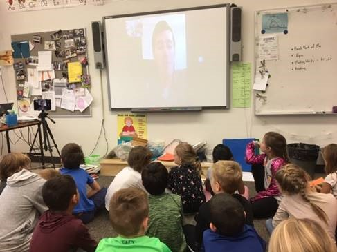 Ms Mansell's Gr. 2 students skype with a real scientist!
